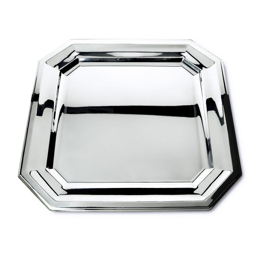 Orfevra Silver Plated 20-Inch Vendome Square Tray