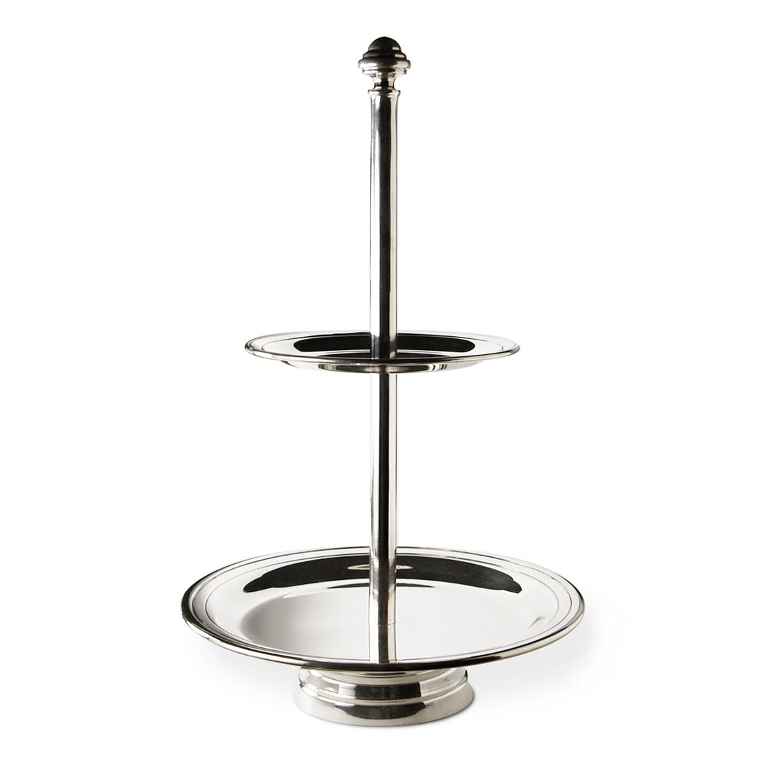 Orfevra Mini 2-Tier Silver Plated Pastry Stand