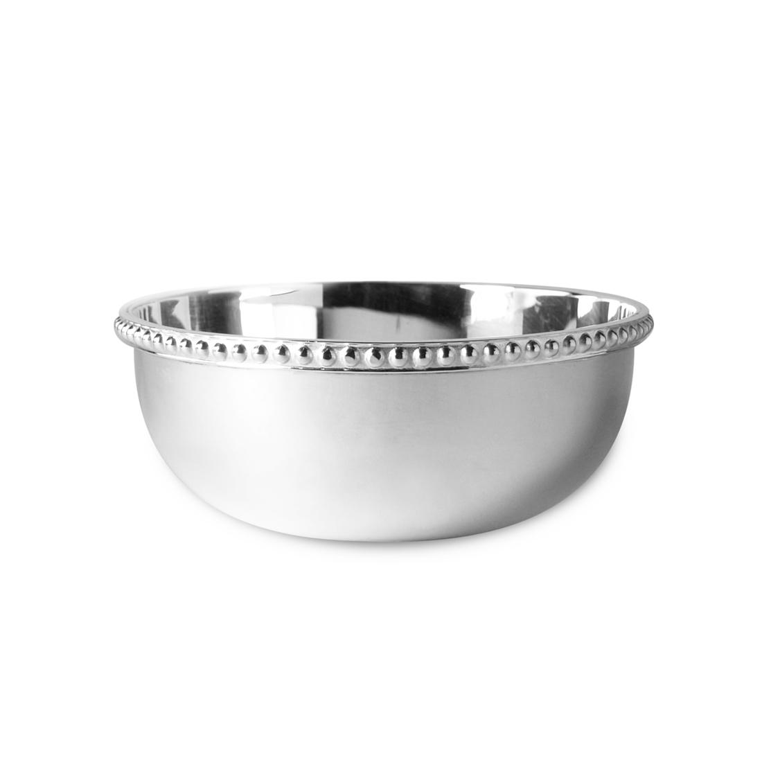 "4"" Silver Plated Finger Bowl in Pearl"
