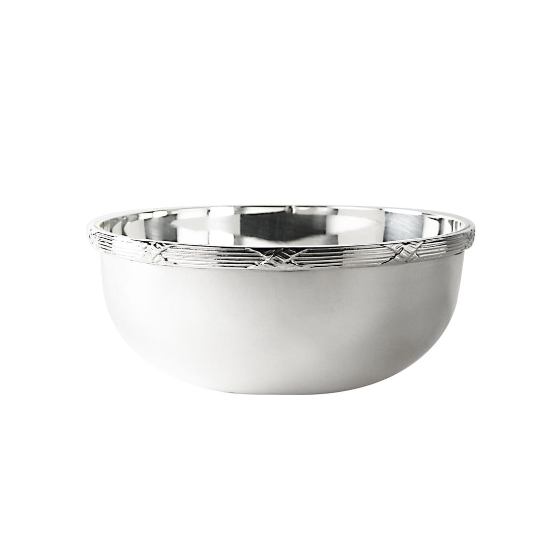 "4"" Silver Plated Finger Bowl in Ribbon"