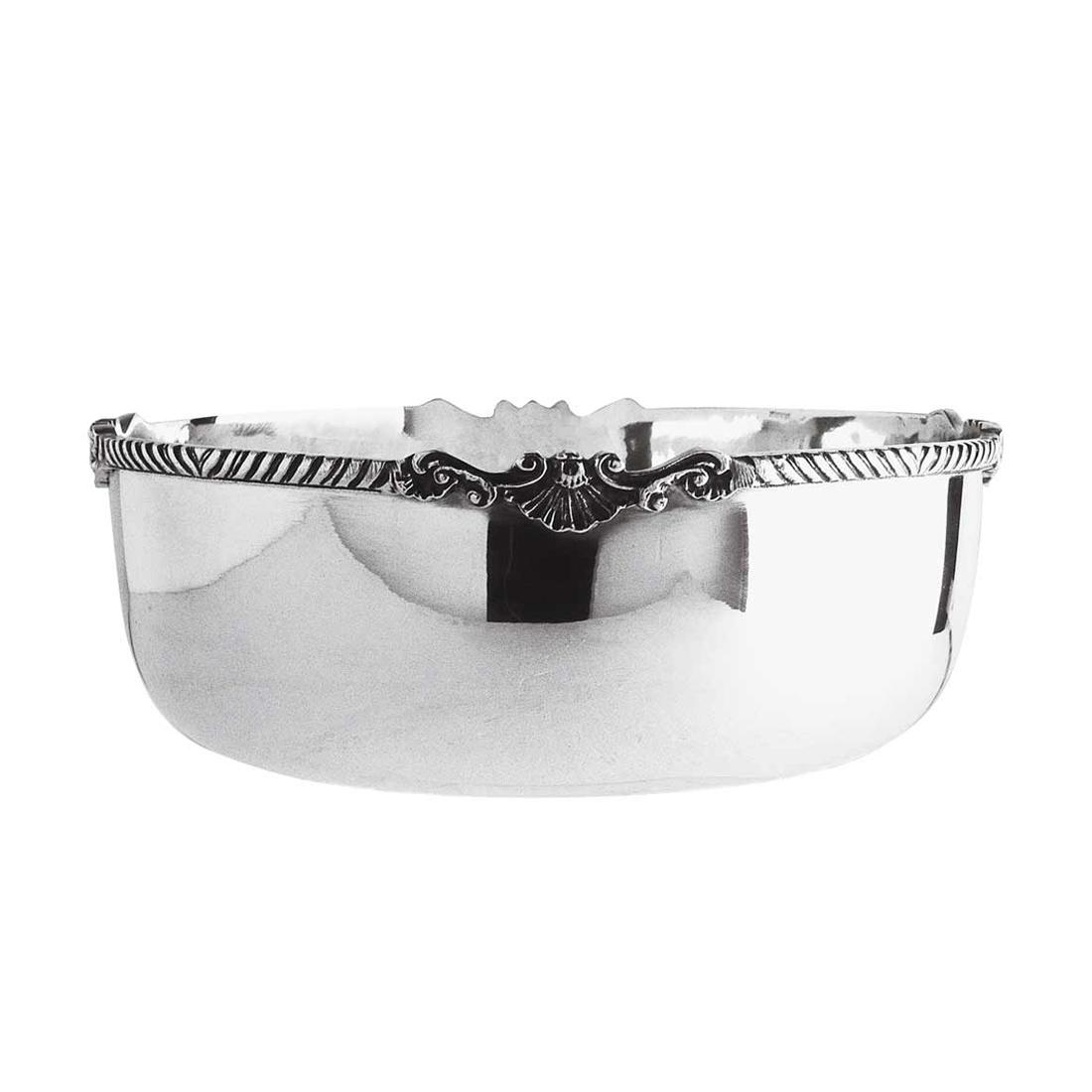 "10"" Silver Plated Salad Bowl in Royal"