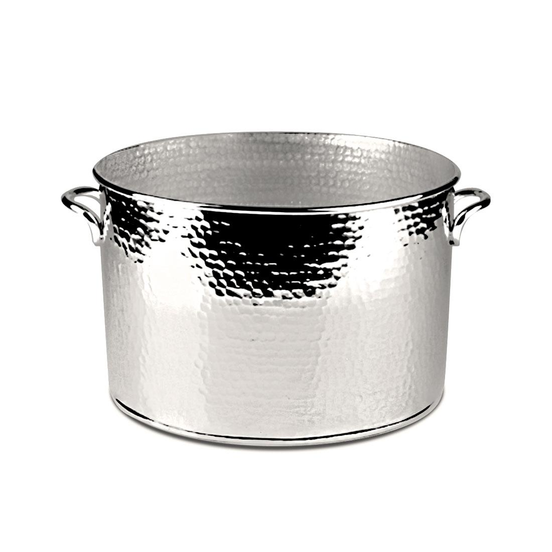 Orfevra Silver Plated Hammered Double Champagne Cooler