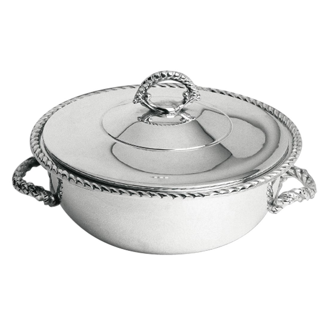 9.5-Inch Vegetable Bowl with Cover in Rope