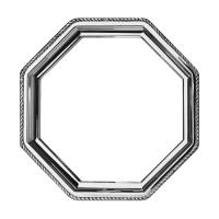 Orfevra Silver Plated Octagonal Tray in Rope